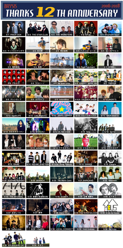 【THANKS 12th ANNIVERSARY】